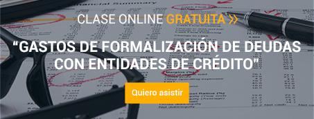 Clase Online 'Gastos de Formalización de deudas con entidades de crédito'