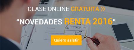 Clase Online 'Novedades para la Declaración de la Renta de 2016'